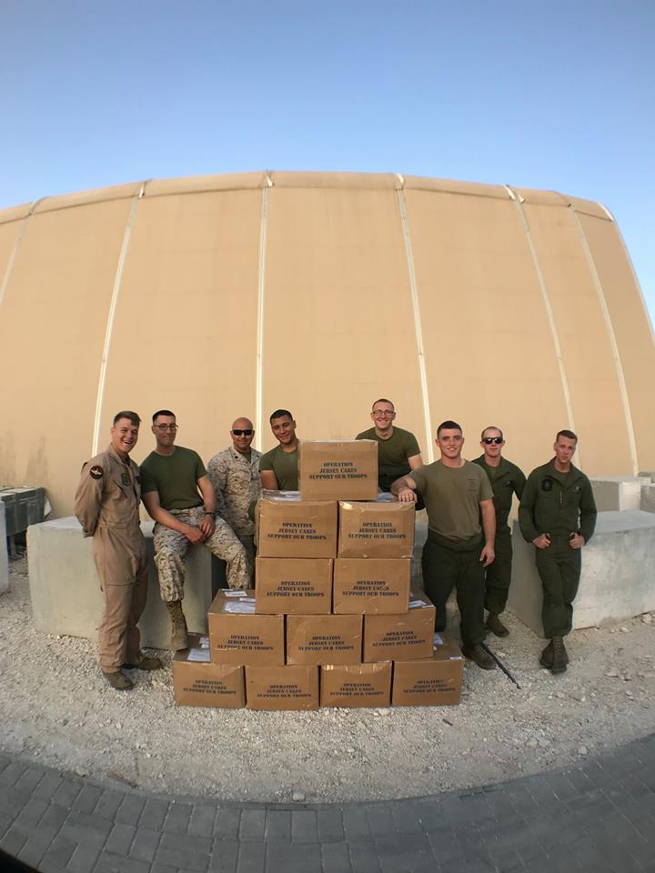 Marine with package